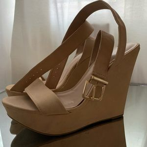 Nude wedges (size 8.5)